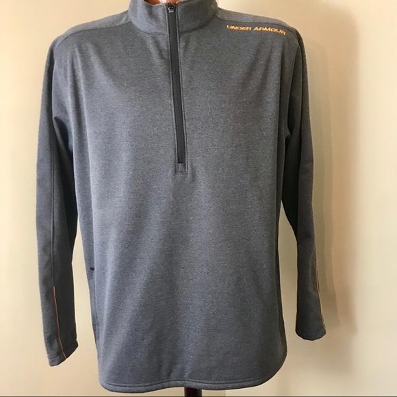 New Under Armour STORM Men/'s Fleece Top Pullover Sweatshirt 1//4 Zip Up $75 Green